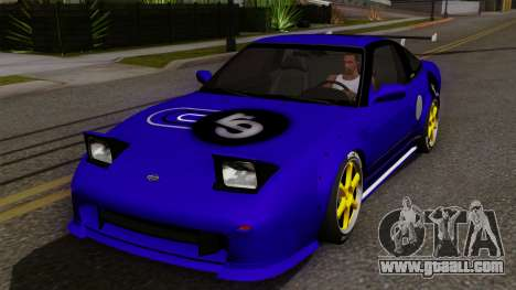 Nissan 180SX Street Golden Rims for GTA San Andreas side view