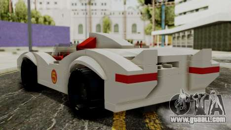Lego Mach 5 for GTA San Andreas left view