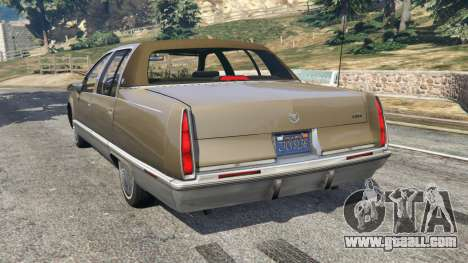 GTA 5 Cadillac Fleetwood 1993 rear left side view