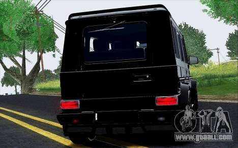 Mercedes Benz G65 Black Star Edition for GTA San Andreas back view
