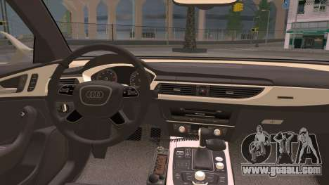 Audi A6 DPS for GTA San Andreas inner view