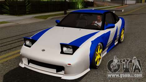 Nissan 180SX Street Golden Rims for GTA San Andreas bottom view