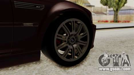 BMW M3 E46 2005 Stock for GTA San Andreas back left view