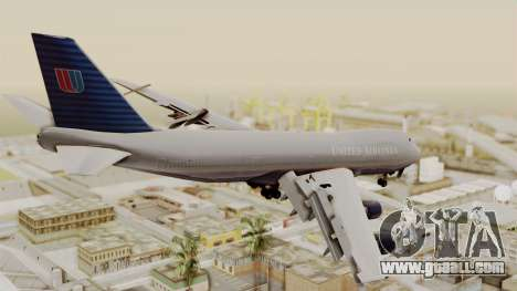 Boeing 747 United Airlines for GTA San Andreas left view