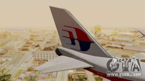 Boeing 747 MasKargo for GTA San Andreas back left view
