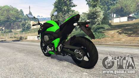 GTA 5 Kawasaki Z800 2014 rear left side view