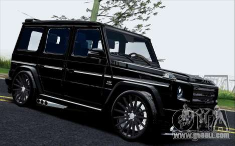 Mercedes Benz G65 Black Star Edition for GTA San Andreas left view