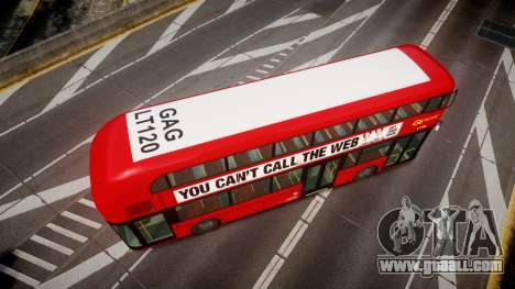 Wrightbus New Routemaster Go Ahead London for GTA 4 right view
