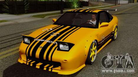 Nissan 180SX Street Golden Rims for GTA San Andreas upper view