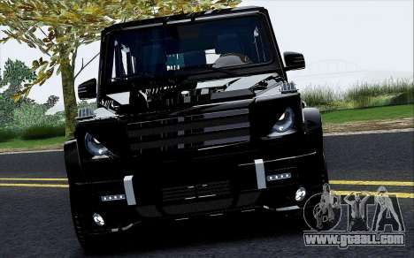 Mercedes Benz G65 Black Star Edition for GTA San Andreas inner view