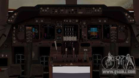 Boeing 747-200 Air India VT-ECG for GTA San Andreas inner view