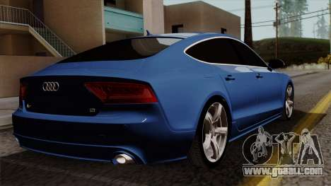 Audi A7 Sportback 2009 for GTA San Andreas left view