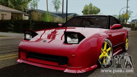Nissan 180SX Street Golden Rims for GTA San Andreas