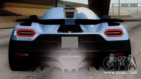 Koenigsegg Agera R 2014 Carbon Wheels for GTA San Andreas bottom view
