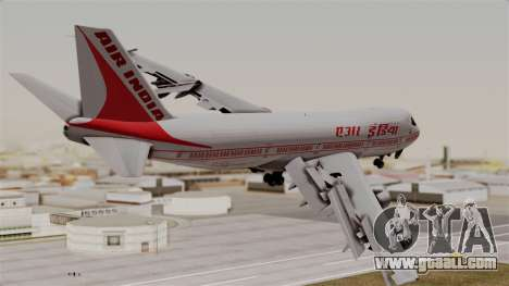Boeing 747-200 Air India VT-ECG for GTA San Andreas left view