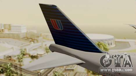 Boeing 747 United Airlines for GTA San Andreas back left view