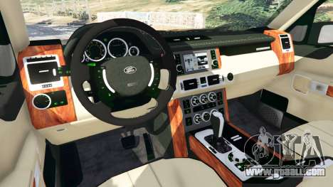 GTA 5 Range Rover Supercharged front right side view