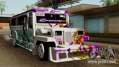 Znranomics - Costum Jeepney (Gabshop) for GTA San Andreas right view