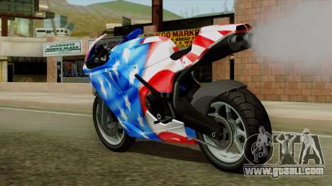 Bati America Motorcycle for GTA San Andreas left view