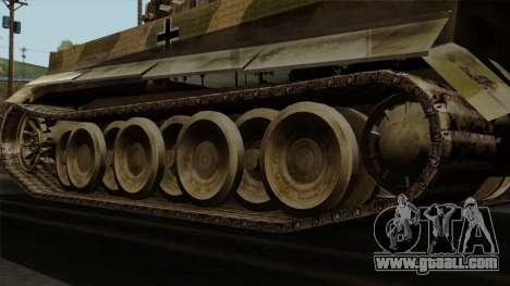 Panzerkampfwagen VI Ausf. E Tiger No Interior for GTA San Andreas back left view