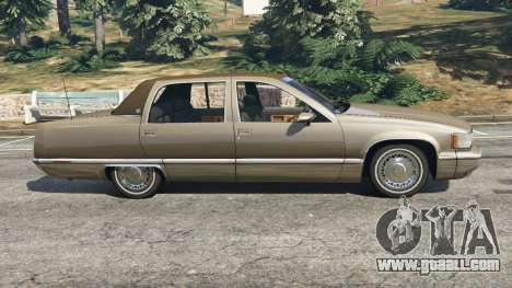 GTA 5 Cadillac Fleetwood 1993 left side view