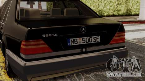 Mercedes-Benz W140 500SE 1992 for GTA San Andreas back view