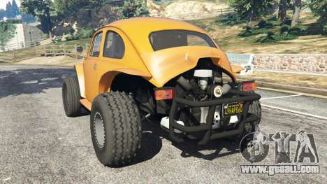 GTA 5 Volkswagen Beetle Baja Bug [Beta] rear left side view