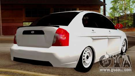 Hyundai Accent for GTA San Andreas left view