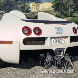 bugatti veyron grand sport v4 0 for gta 5. Black Bedroom Furniture Sets. Home Design Ideas