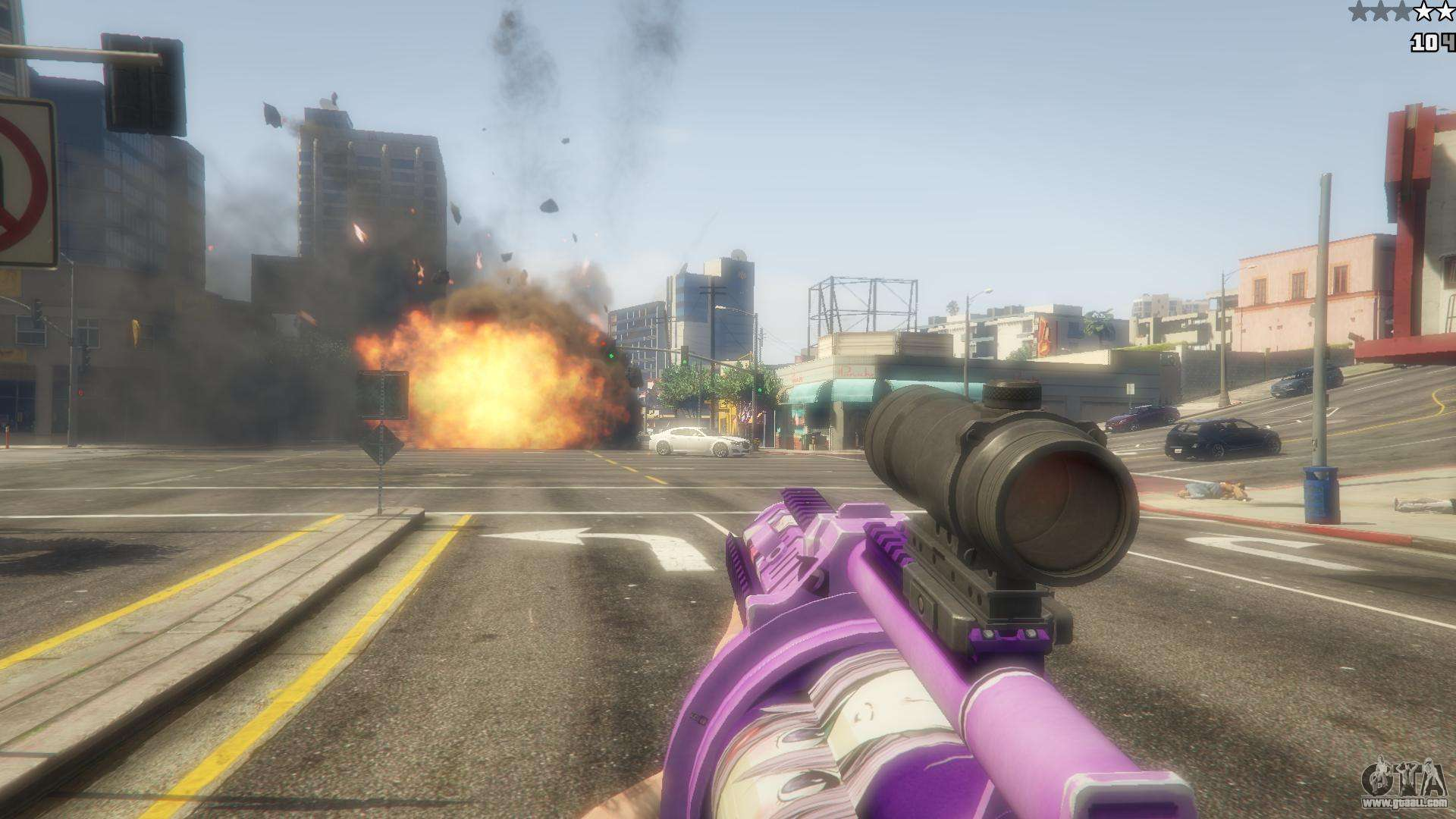 anime grenade launcher for gta