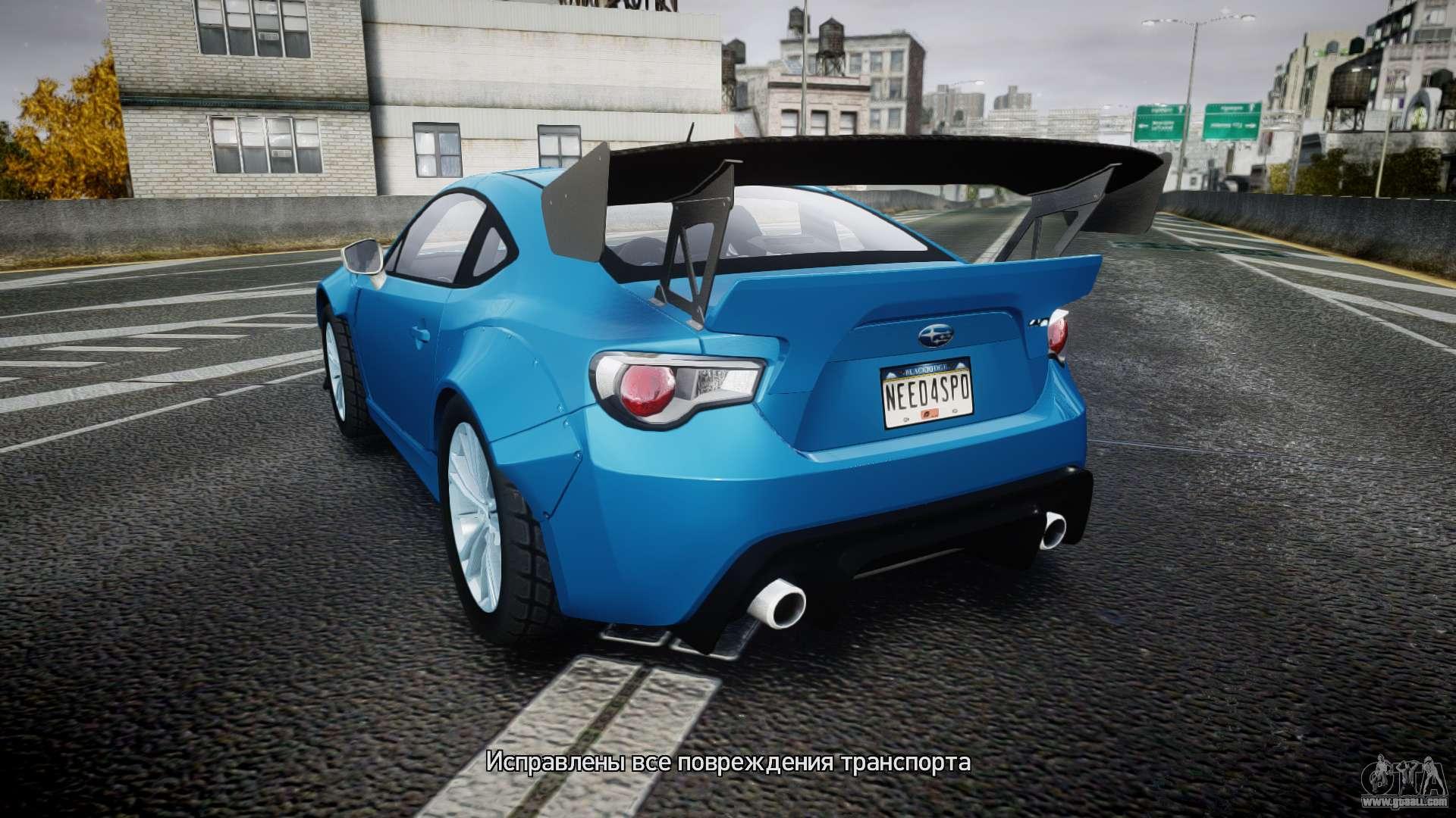 Subaru Brz Rocket Bunny For Gta 4