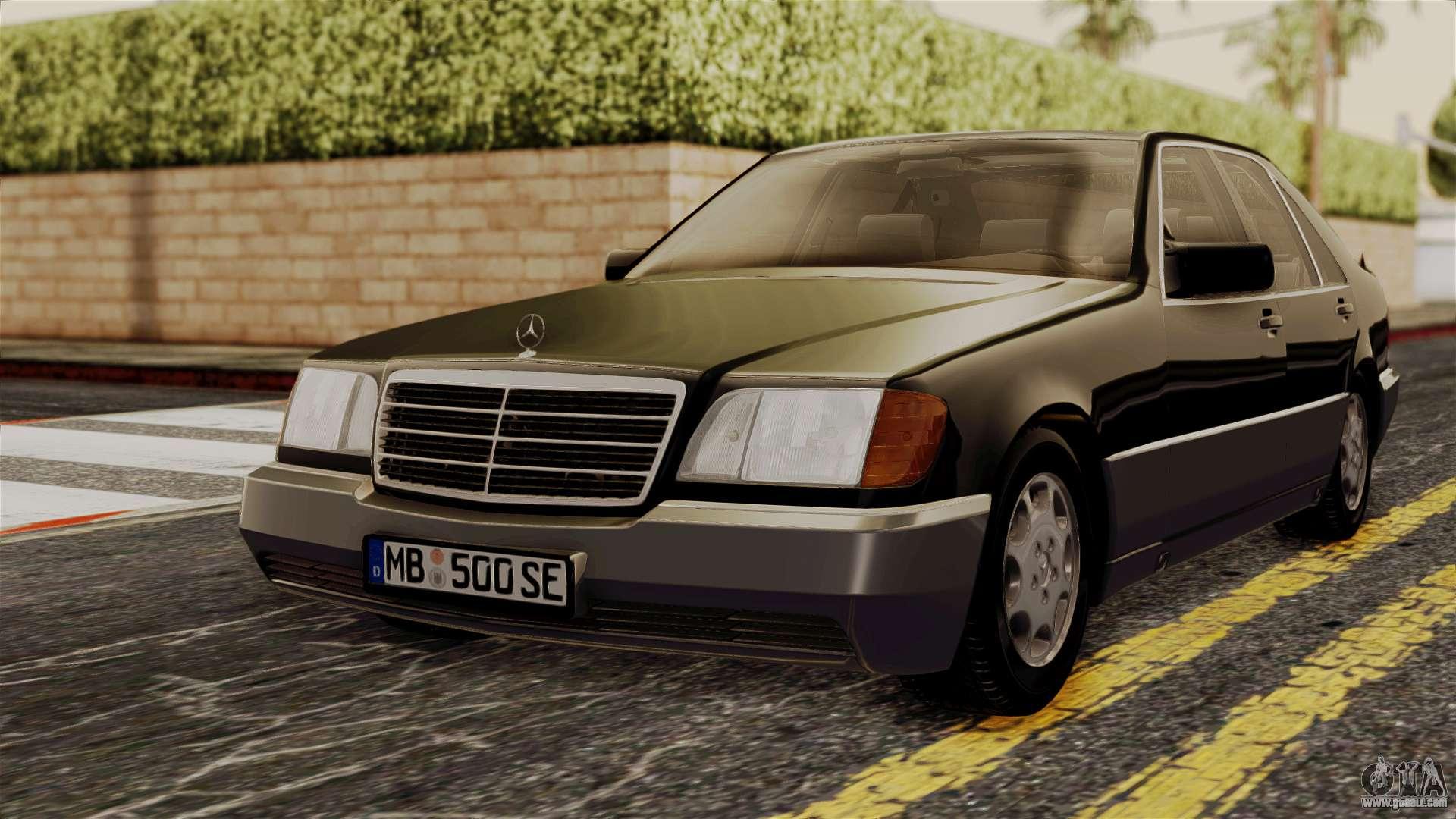 Mercedes benz w140 500se 1992 for gta san andreas for Mercedes benz 500se