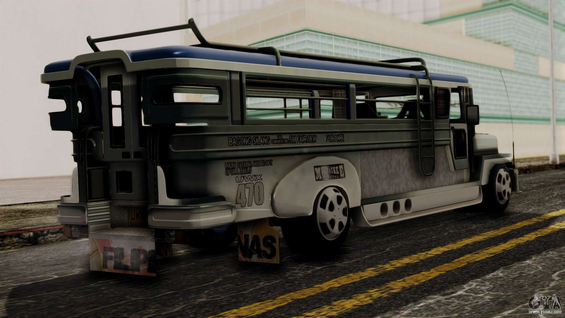 milwaukee motors custom jeepney for gta san andreas. Black Bedroom Furniture Sets. Home Design Ideas