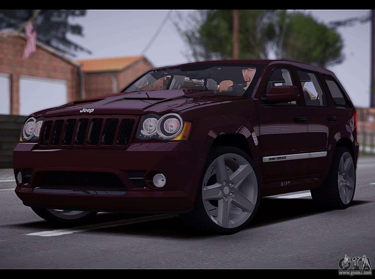 jeep grand cherokee srt8 2008 for gta san andreas. Black Bedroom Furniture Sets. Home Design Ideas