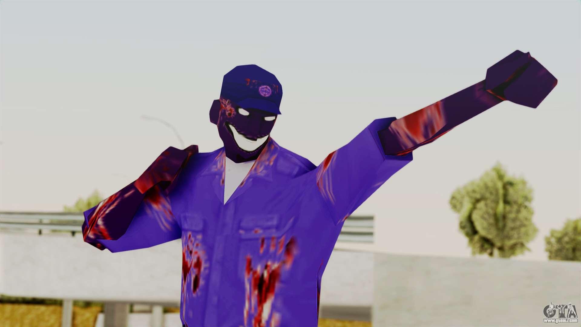 FNAF Purple Guy For GTA San Andreas