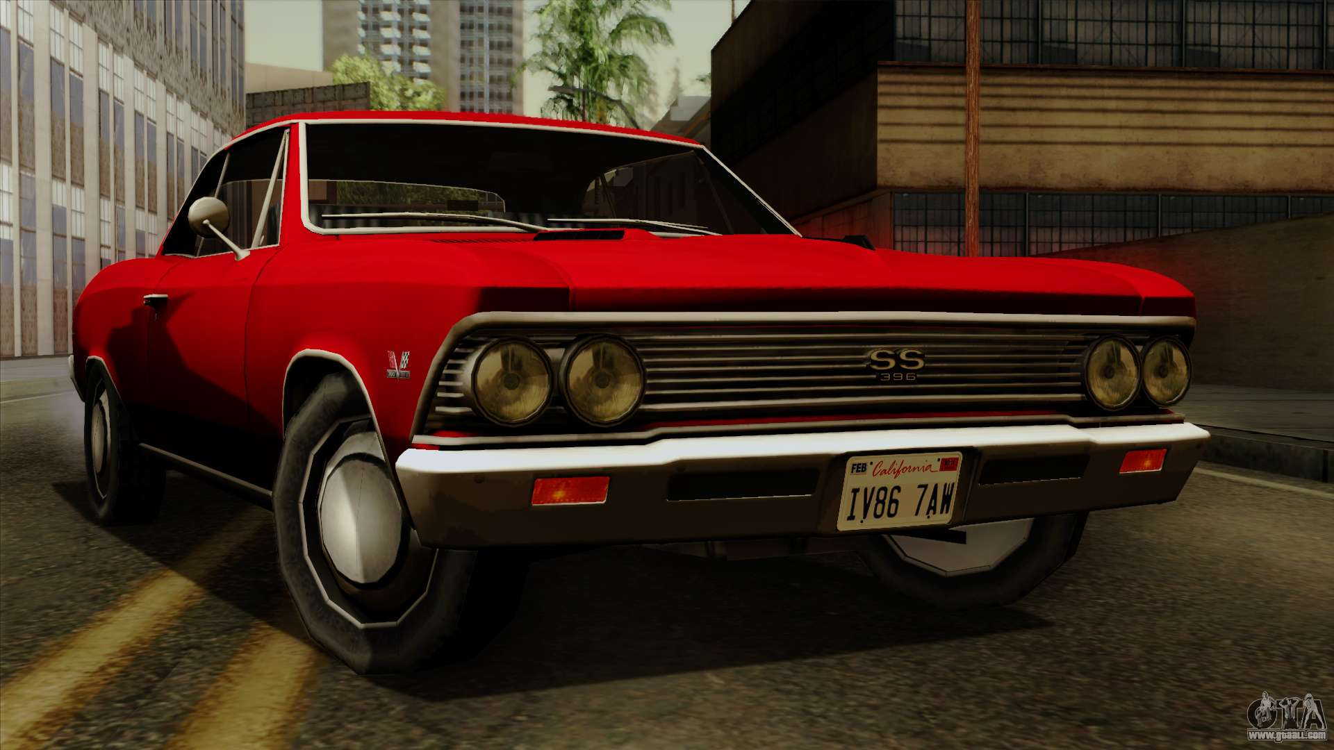 Chevrolet Chevelle Ss396 1966 For Gta San Andreas Chevy Ss 396