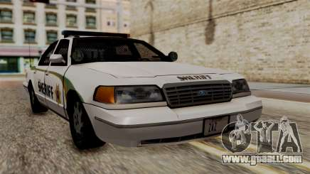 Ford Crown Victoria LP v2 Sheriff New for GTA San Andreas