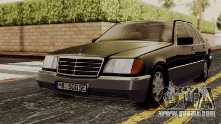 Mercedes-Benz W140 500SE 1992 for GTA San Andreas
