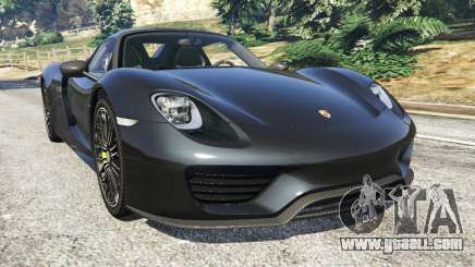 Porsche 918 Spyder 2014 [HD] for GTA 5