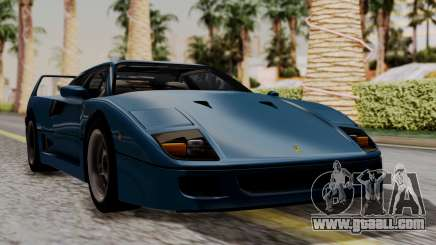 Ferrari F40 1987 with Up without Bonnet HQLM for GTA San Andreas