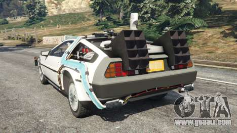 GTA 5 DeLorean DMC-12 Back To The Future v0.5 rear left side view