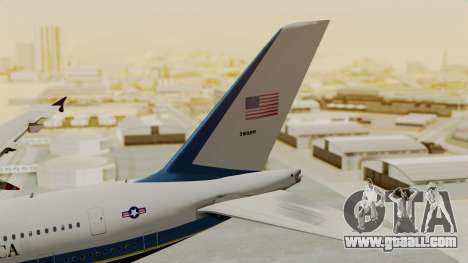 Airbus A380 Air Force One for GTA San Andreas back left view