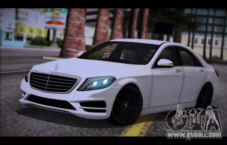Mercedes Benz S63 W222 Quality Items for GTA San Andreas