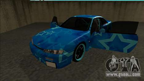 Nissan Silvia S14 Drift Blue Star for GTA San Andreas back view