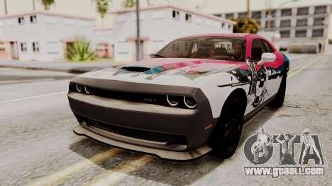 Dodge Challenger SRT Hellcat 2015 IVF PJ for GTA San Andreas interior
