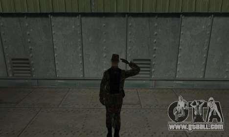 Military greeting for GTA San Andreas second screenshot
