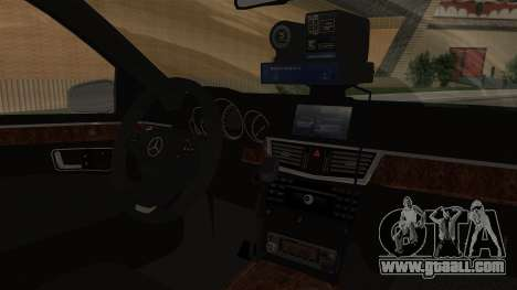 Mercedes-Benz E500 interior Ministry traffic pol for GTA San Andreas right view