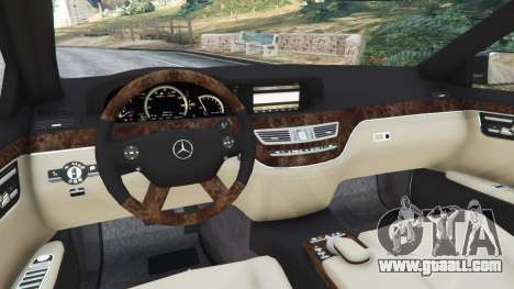 GTA 5 Mercedes-Benz S600 (W221) 2009 rear right side view