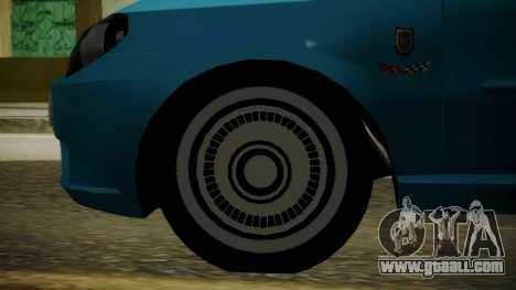 Fiat Albea Sole for GTA San Andreas back left view