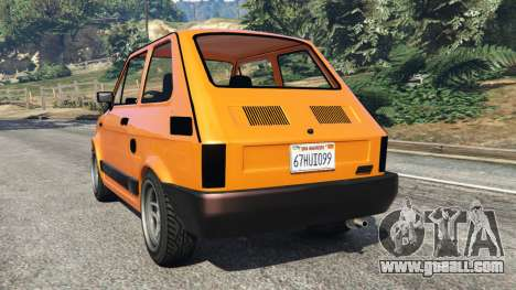 GTA 5 Fiat 126p v1.0 rear left side view
